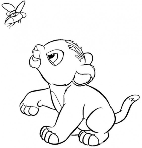 Lion King Coloring Pages Baby Simba En 2019