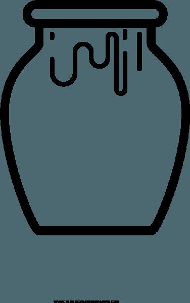 Honey Jar Coloring Page