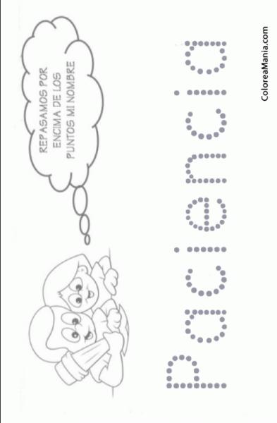 Colorear Escribo Mi Nombre  Paciencia (reseguir Tu Nombre), Dibujo