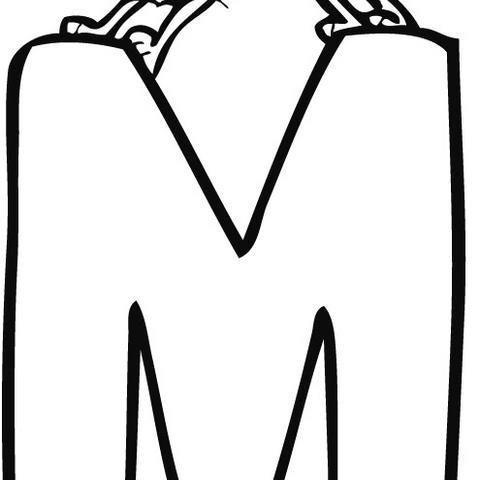Dibujo Infantil Para Colorear De La Letra M, Dibujos Del Abecedario