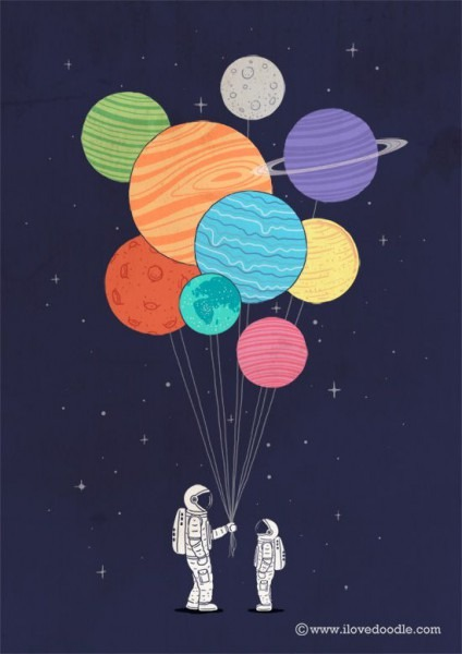 13 Creativas Ilustraciones Del Espacio
