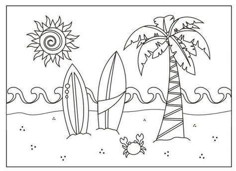 Dibujos Para Colorear Verano