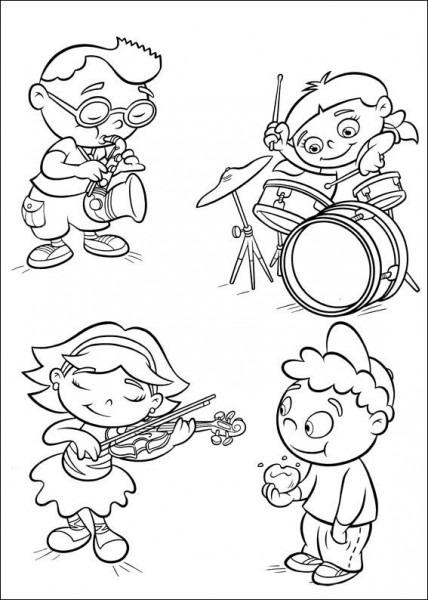 Dibujos Para Colorear Mini Einsteins 40