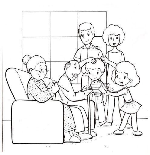 Imágenes Para Colorear De La Familia En Inglés
