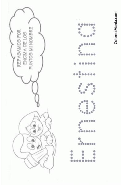 Colorear Escribo Mi Nombre  Ernestina (reseguir Tu Nombre), Dibujo