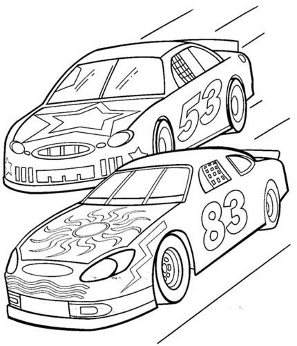 Imágenes De Carros De Carrera Para Colorear  Dibujos De Autos