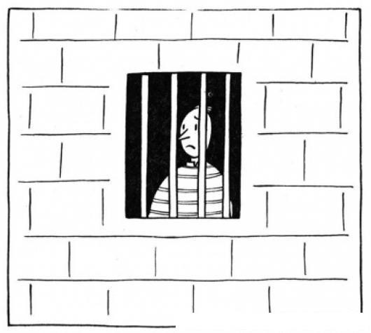 Carcel Para Colorear Hombre Preso En Una Prision