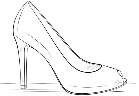 Resultado De Imagen De Zapatos Flamenca Para Colorear