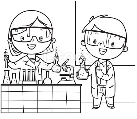 Ilustración De Libro De Colorear Médico Y Enfermera Y Más Vectores