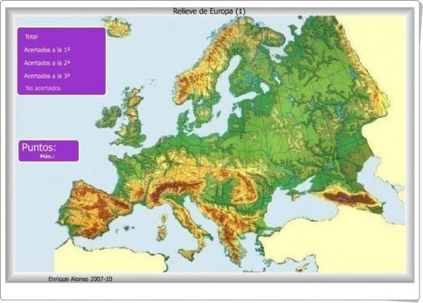 Los Mapas Interactivos De Relieve De Europa De Enrique Alonso
