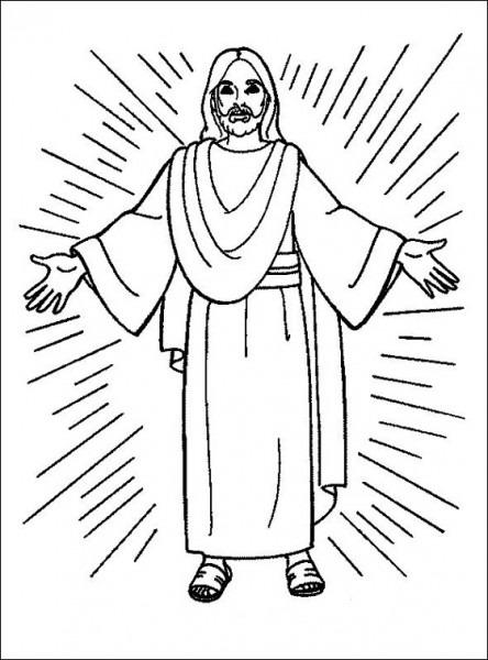 Jesús Resucitando Para Colorear  Pintando A Jesús De Nazaret Con