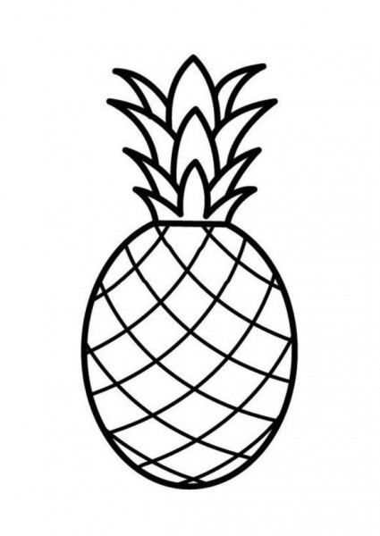 Fruit Pineapple Coloring Page Free