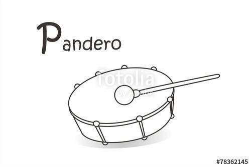 Imagenes De Panderos Para Colorear