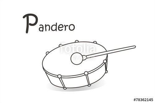 Pandero Lineas Fb  Imágenes De Archivo Y Vectores Libres De