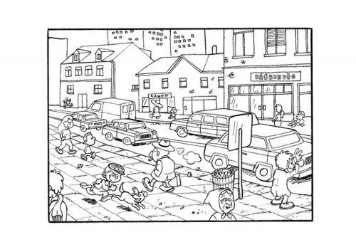 Resultado De Imagen Para Paisaje Urbano Animado Para Colorear