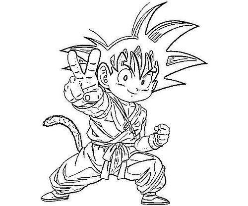 Dibujos De Goku Para Colorear In 2019