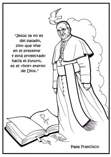 Resultado De Imagen Para Dibujos Para Colorear Del Papa Francisco