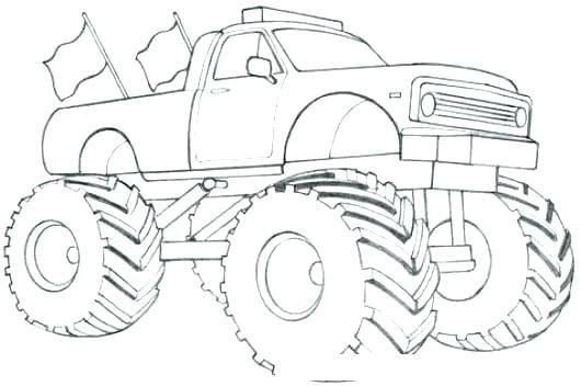 Colorear Camiones Monstruo Para Para O Monster Truck Para Colorear