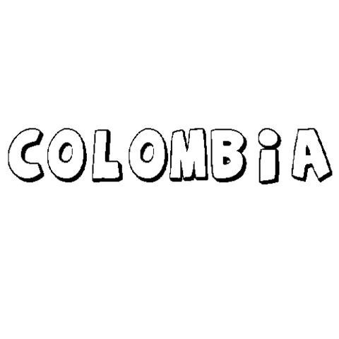 Colombia  Dibujos Para Colorear