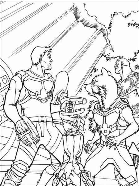Dibujos Para Colorear Guardianes De La Galaxia 9