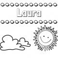 Nombre De Laura Para Colorear