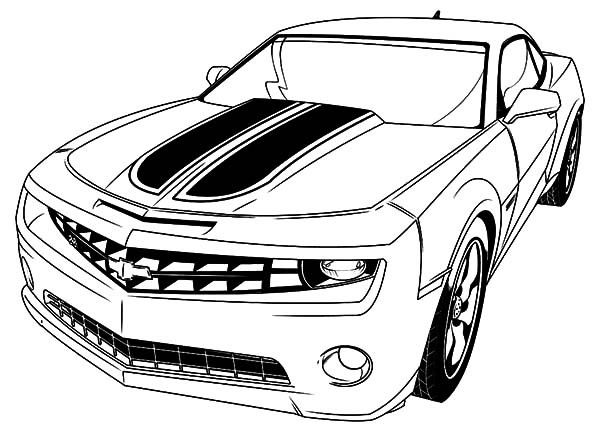 Car Coloring Pages Chevrolet Camaro