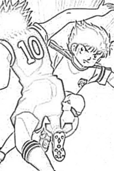 √ Dibujo De Futbolistas Oliver Y Benji Para Pintar Y