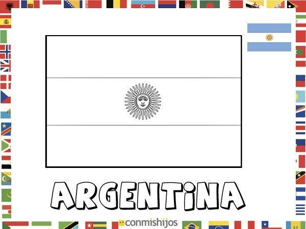 Bandera De Argentina  Dibujos De Banderas Para Pintar