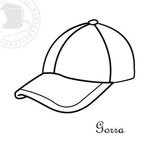 Gorra Dibujo Para Colorear