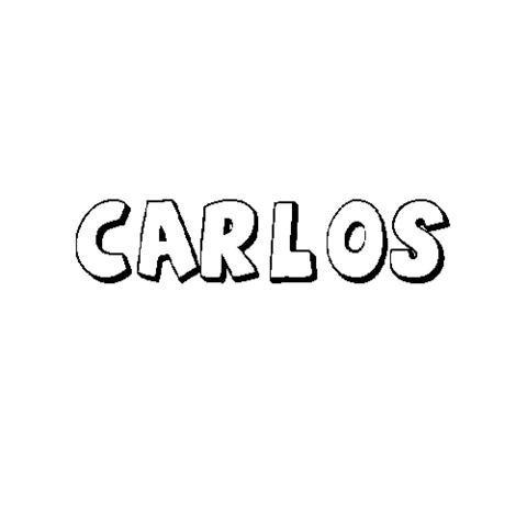 Carlos  Dibujos Para Colorear