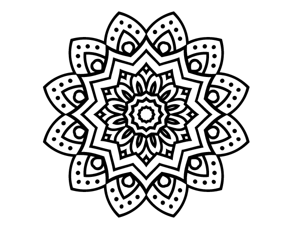 Dibujo De Mandala Flor Natural Para Colorear, Imprimir O Descargar