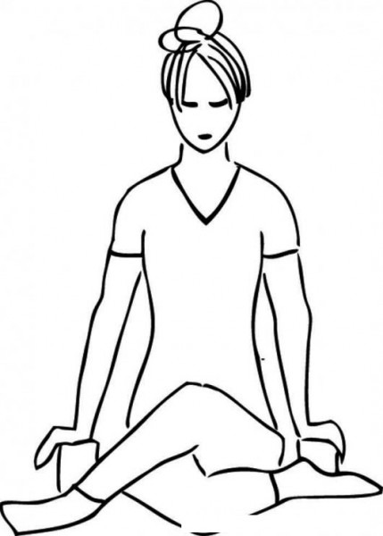 Colorear Mujer Practicando Yoga Para Pintar Y Colorear Yogayoga