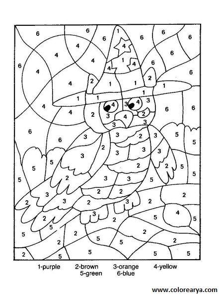 Dibujos Para Colorear Que Tengan Numeros