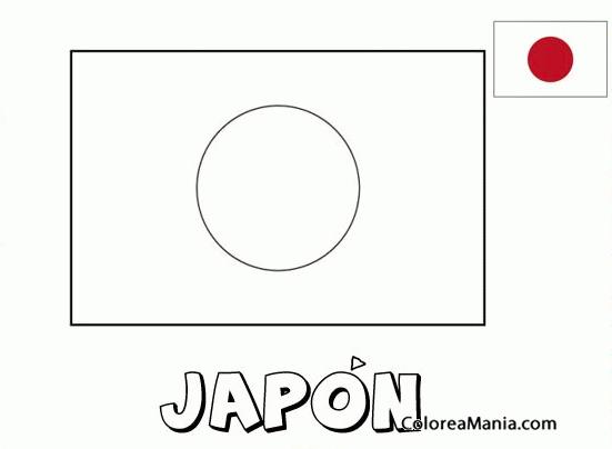 Bandera Japon Para Colorear