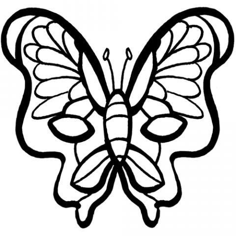 Dibujo Para Colorear De Un Antifaz De Mariposa Para El Carnaval