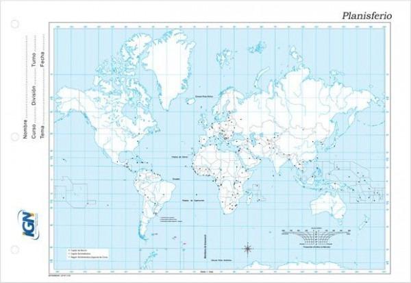 Mapa Escolar Planisferio