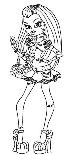 Style Frankie Stein Monster High Coloring Page