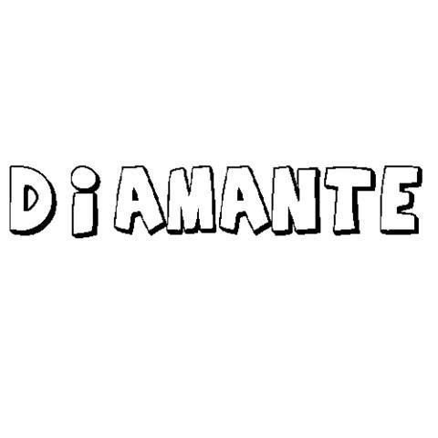 Diamante  Dibujos Para Colorear