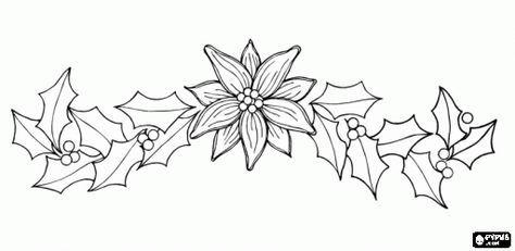 Flores De Navidad Para Colorear E Imprimir