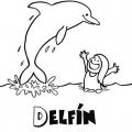 Delfines Infantiles Para Colorear