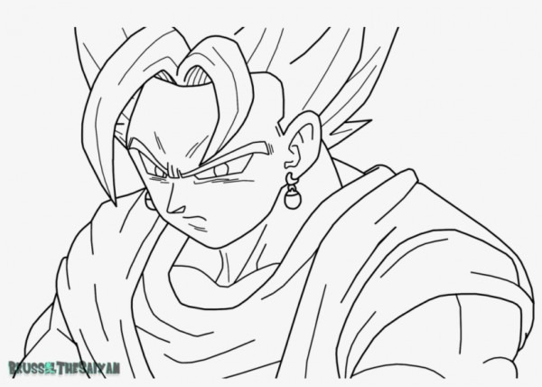 Goku Super Saiyan Para Colorear Super Saiyan Blue Vegito