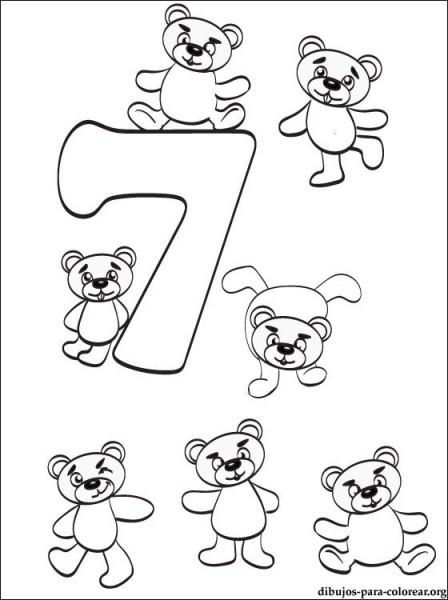 Dibujo Número 7  Dibujos De Números Para Imprimir