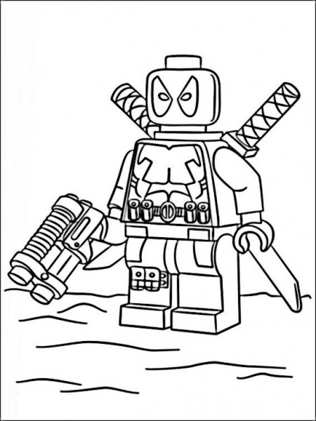 Dibujos Para Imprimir Y Pintar Para Niños Lego Marvel Heroes 4
