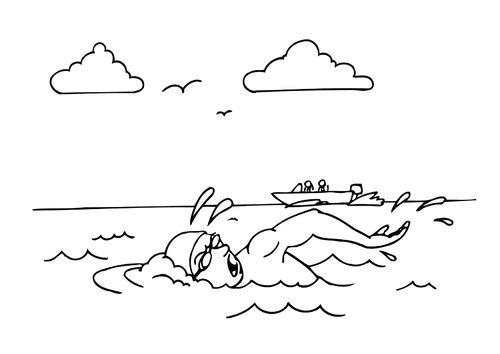 Dibujo Para Colorear Nadar