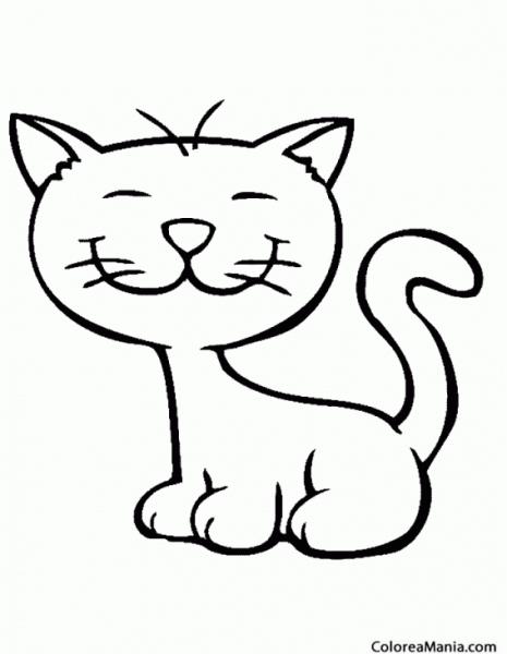 Colorear Gato, Dibujo Niños (animales Domésticos), Dibujo Para