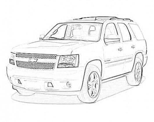 Dibujo De Chevrolet Tahoe 2012 Para Pintar Y Colorear