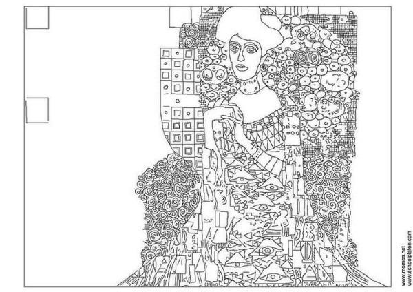 Dibujo Para Colorear Gustav Klimt