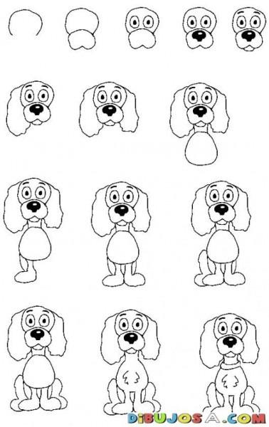 Como Aprender A Dibujar Un Perrito Por Pasos Para Pintar Y
