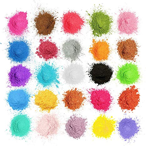 Mosuo Pigmentos En Polvo,5g 25 Colores Natural Mica Tintes Para