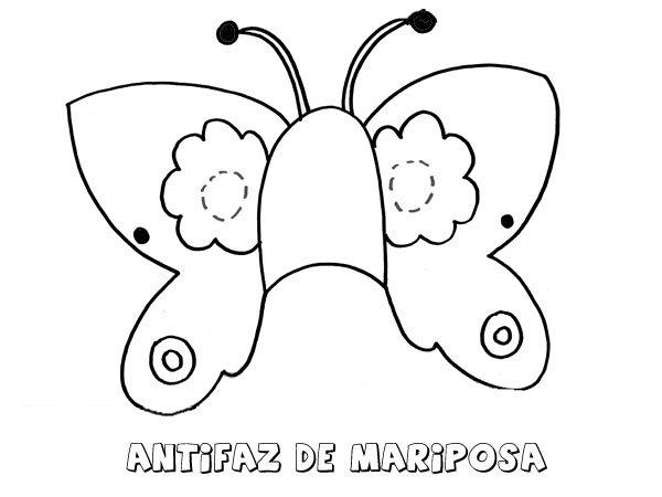Antifaz De Mariposa  Dibujos Para Colorear Con Los Niños
